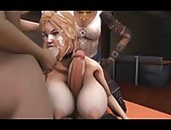 Big Tits gangbang creampie - tubo de sexo extremo